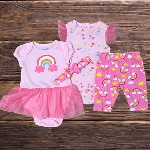 Baby Girl Rainbow Outfit